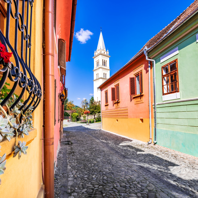 """Sighisoara Transylvania - Medieval city in Romania"" stock image"