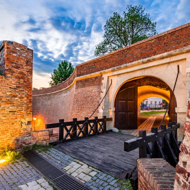 """Alba Iulia, Romania - Alba Carolina fortress, Transylvania"" stock image"