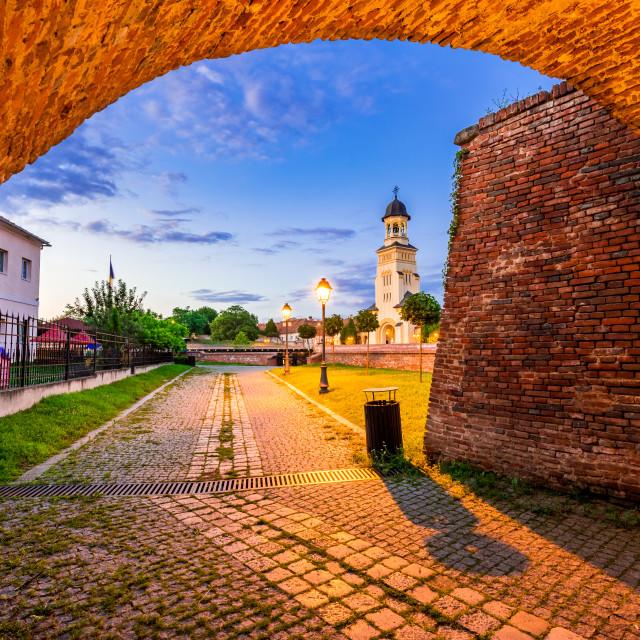 """Alba Iulia, Romania - Transylvania, Alba Carolina fortress gate"" stock image"