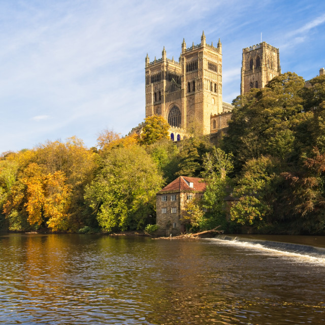 """""""Durham Cathedral and River Wear."""" stock image"""