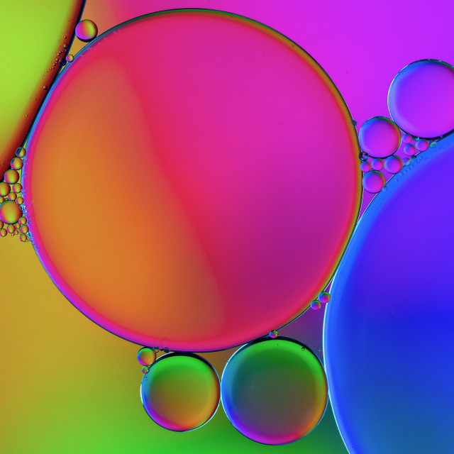 """""""colorful oil and water pattern"""" stock image"""