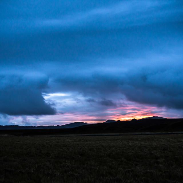 """""""Vik, Iceland Sunrise"""" stock image"""