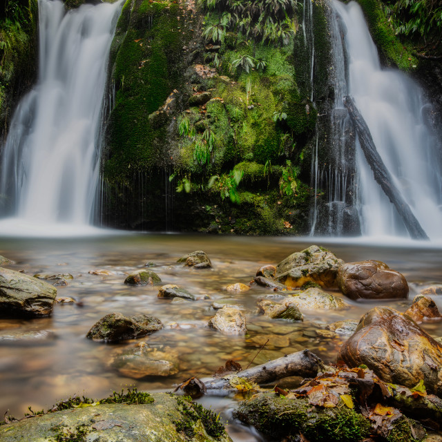 """Glenmalure Waterfall"" stock image"