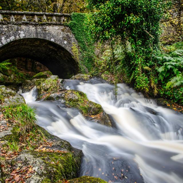 """Cloughlea Waterfall"" stock image"