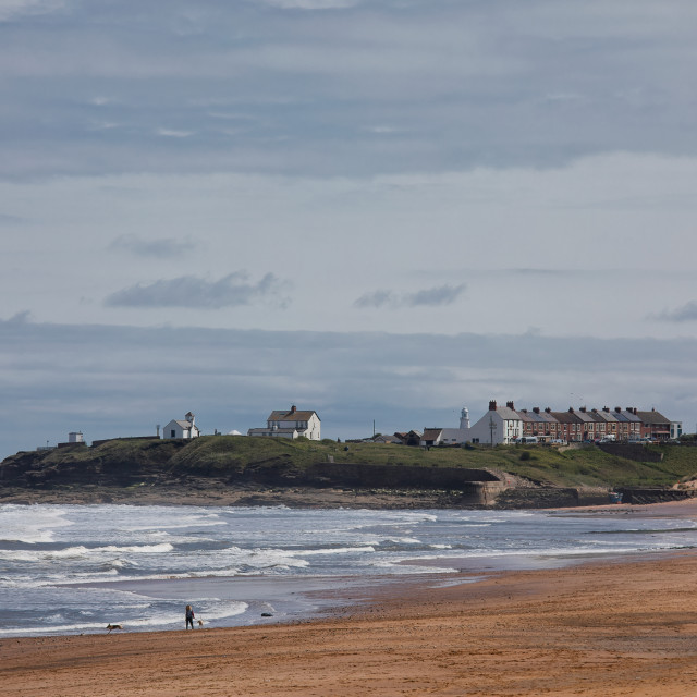 """Spring Sunshine at Seaton Sluice"" stock image"