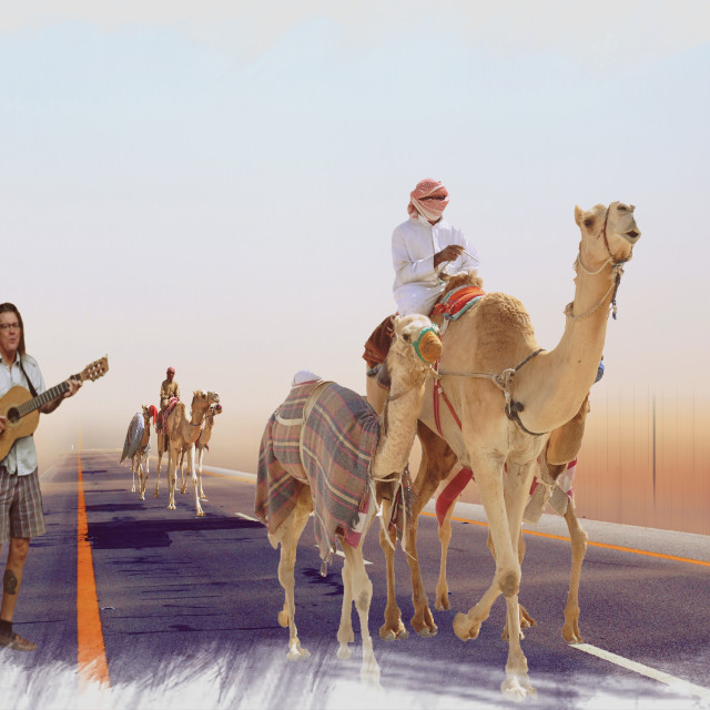 """Music On The Road Of Arabia"" stock image"