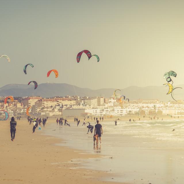 """Kitesurfing Tarifa"" stock image"