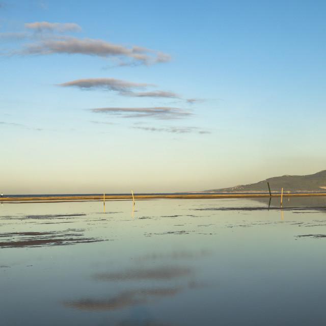"""""""Beach Lagoon Tarifa"""" stock image"""