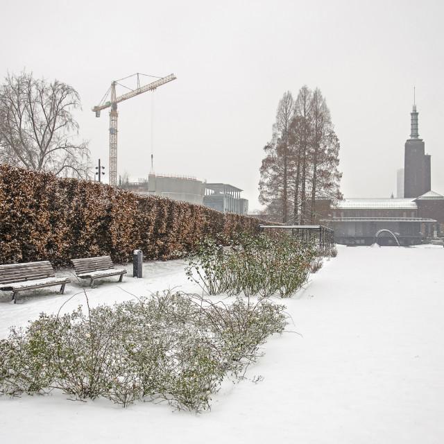 """Museumpark in winter"" stock image"