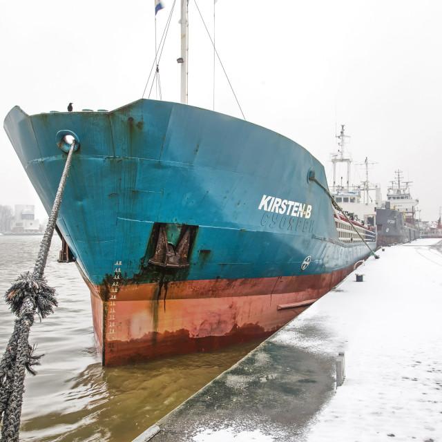 """Park Quay in winter"" stock image"