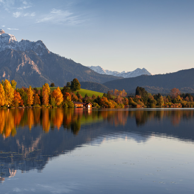 """""""Autumn in the Alps"""" stock image"""