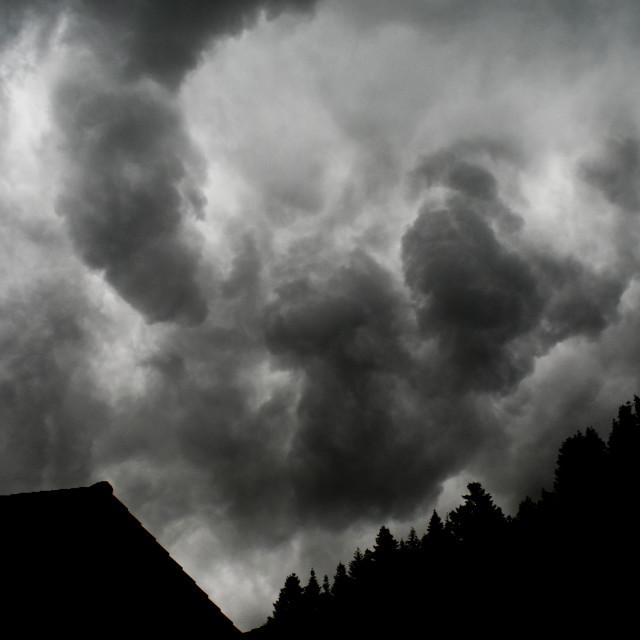 """Dark Storm Clouds"" stock image"