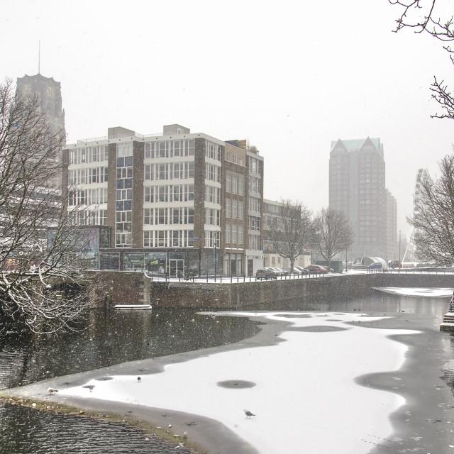"""Steigersgracht canal in winter"" stock image"