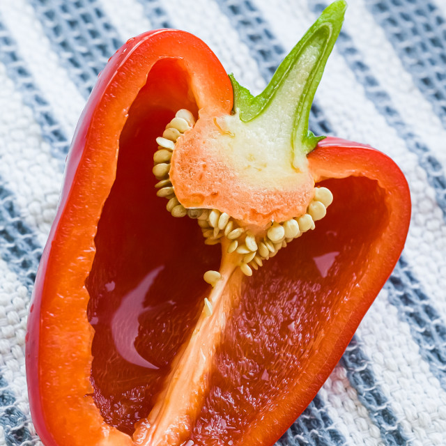 """""""Cut Red Pepper"""" stock image"""