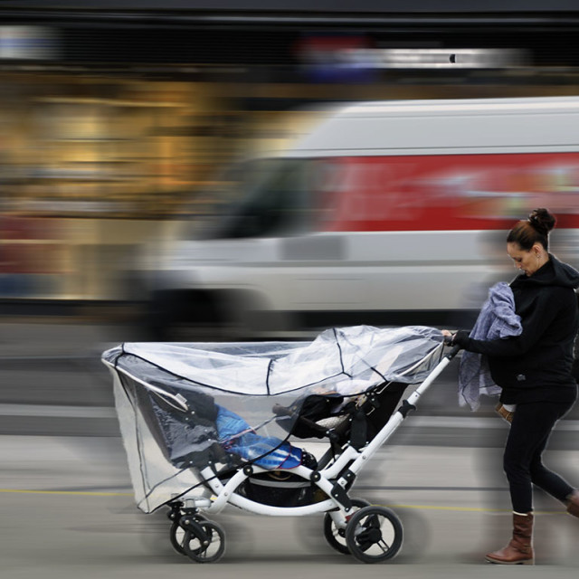 """""""Mother & Child In Motion"""" stock image"""