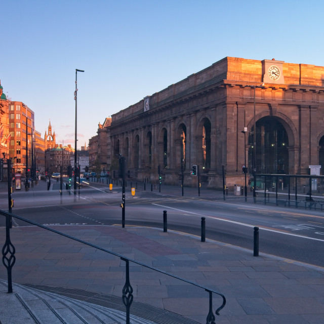 """""""Newcastle Central Station"""" stock image"""