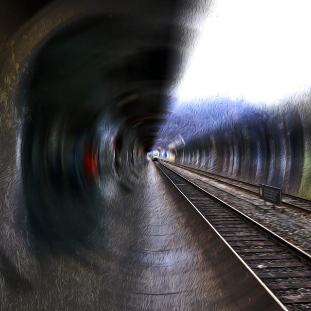 """Interlaken Rail Station"" stock image"