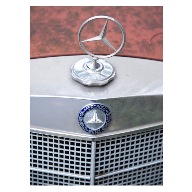 """Mercedes detail 1. 2020"" stock image"