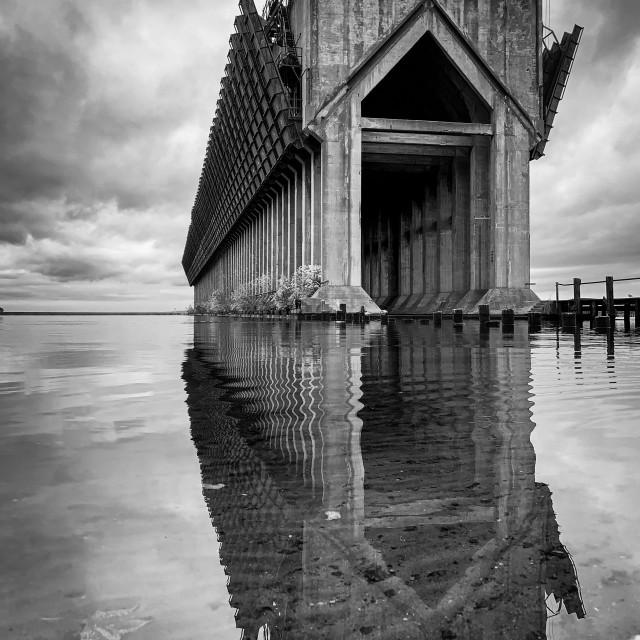 """Ore Dock Reflections #5"" stock image"