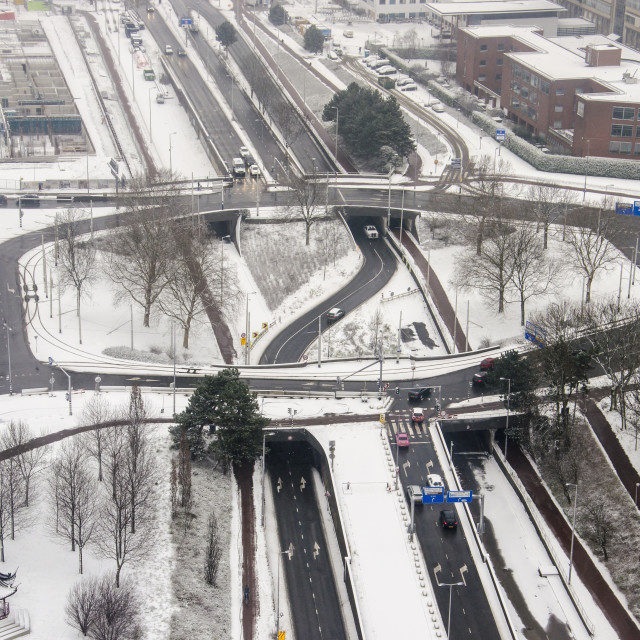 """""""Traffic junction in winter"""" stock image"""
