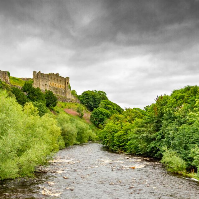 """Richmond Castle, North Yorkshire, England"" stock image"