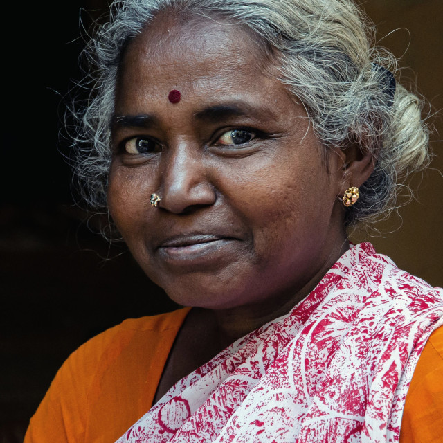 """MADURAI WOMAN"" stock image"
