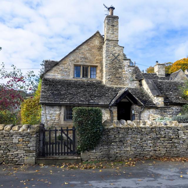 """""""Stone Cottage"""" stock image"""