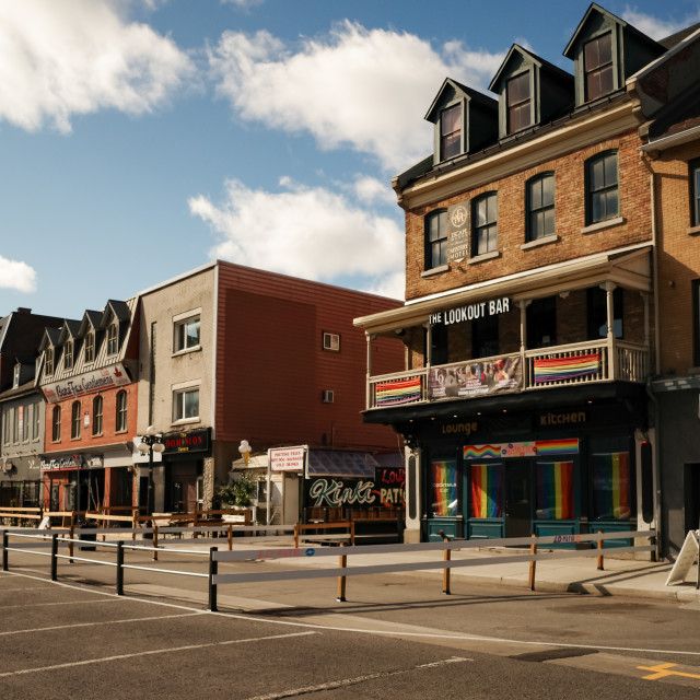 """""""The Lookout Bar in Ottawa's ByWard Market"""" stock image"""