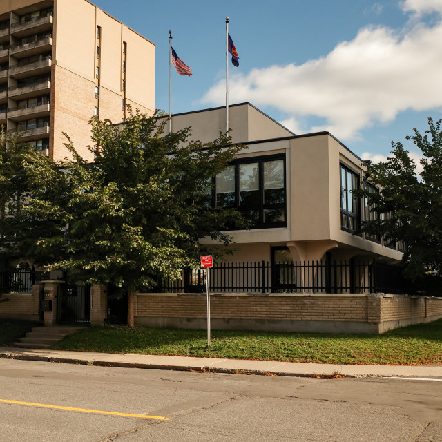 """""""High Commission of Malaysia in Ottawa, Canada"""" stock image"""