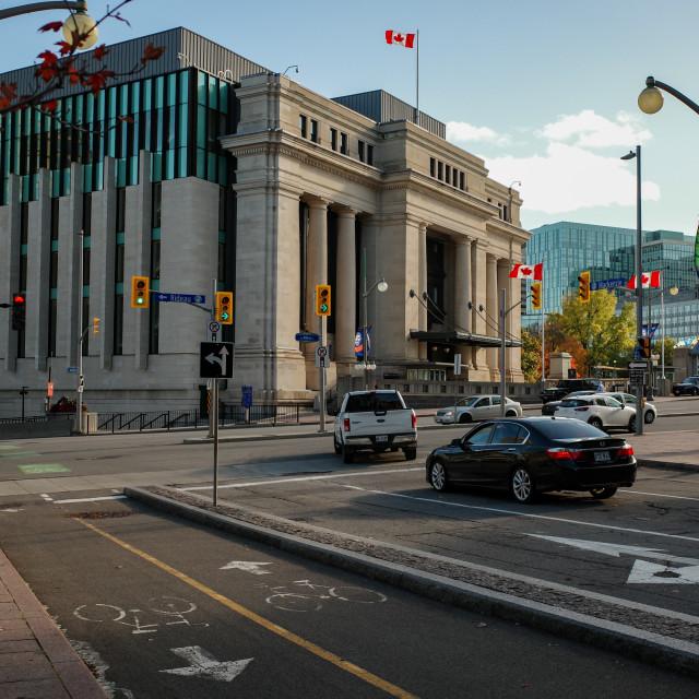 """Senate of Canada building in downtown Ottawa"" stock image"