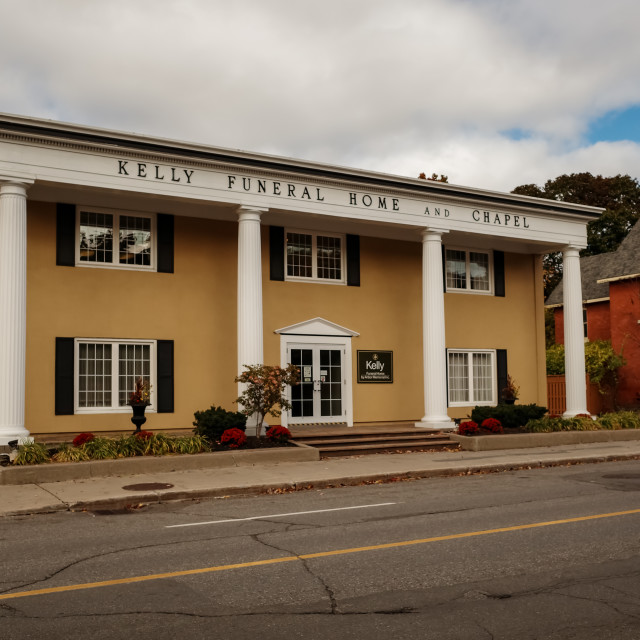 """""""Kelly Funeral Home on Somerset in Ottawa"""" stock image"""