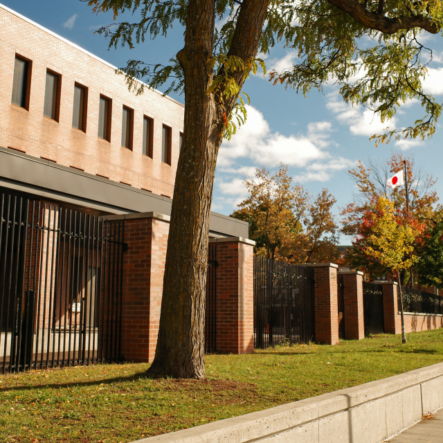 """""""The Embassy of Japan in Ottawa, Canada"""" stock image"""