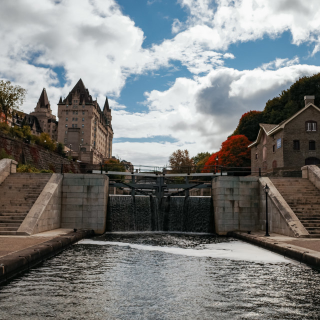 """Rideau Canal Locks in Downtown Ottawa"" stock image"