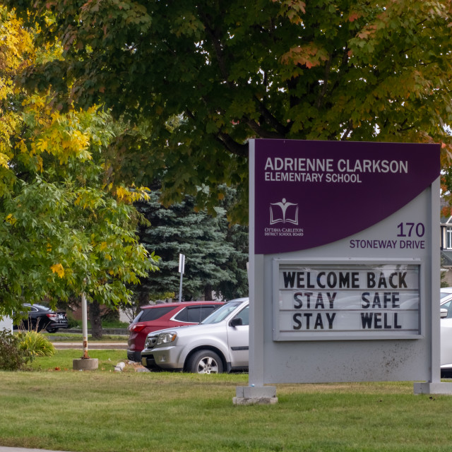 """""""Adrienne Clarkson Elementary School in Ottawa"""" stock image"""