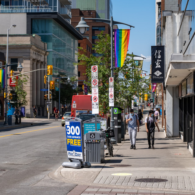"""""""City Life in Ottawa during COVID-19"""" stock image"""