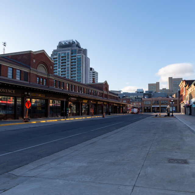 """""""Empty ByWard Market during COVID-19 pandemic"""" stock image"""
