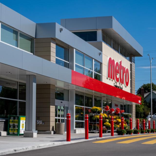"""Metro Grocery Store in Kanata, Ontario"" stock image"