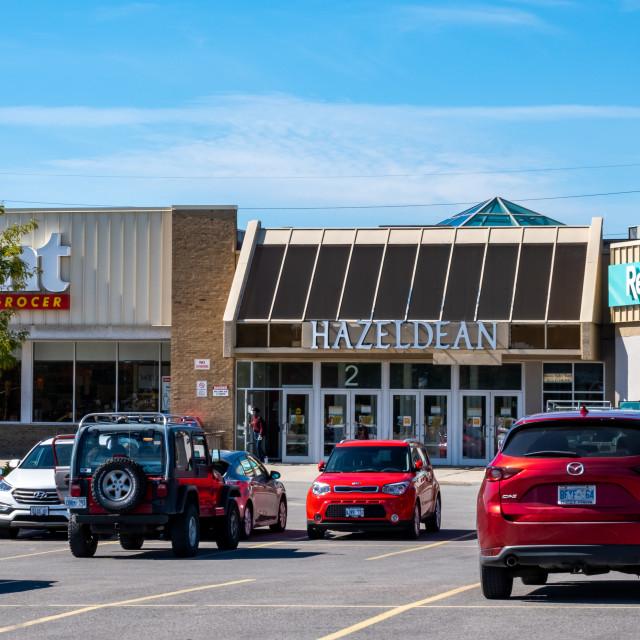 """Hazeldean Mall in Ottawa Suburb of Kanata"" stock image"