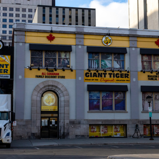 """""""The Original Giant Tiger in Ottawa's ByWard Market"""" stock image"""