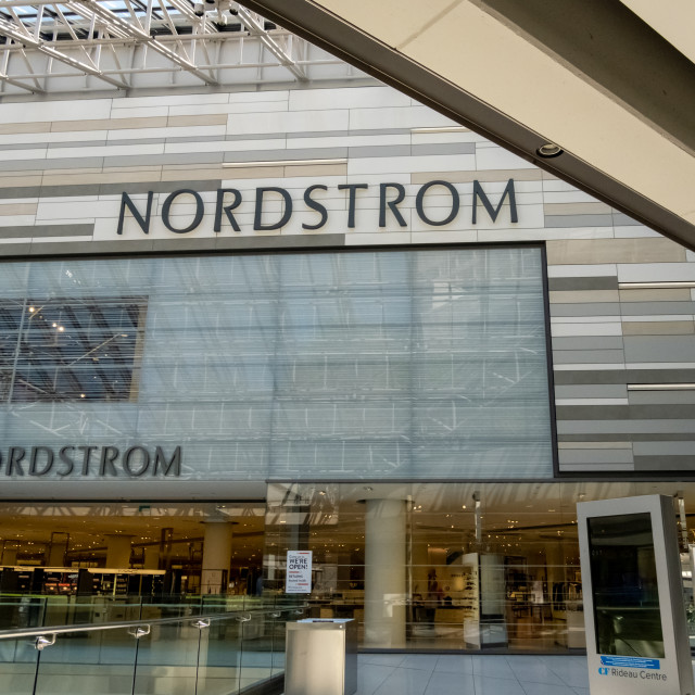 """""""Nordstrom Retail Store in Ottawa's CF Rideau Centre"""" stock image"""