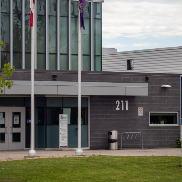 """Ottawa Police Station at 211 Huntmar Drive"" stock image"