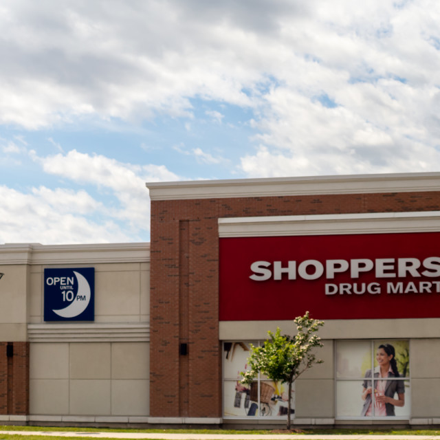 """""""Shoppers Drug Mart Store Exterior"""" stock image"""