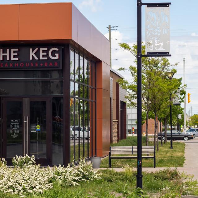 """The Keg Steakhouse & Bar in Ottawa, Canada"" stock image"