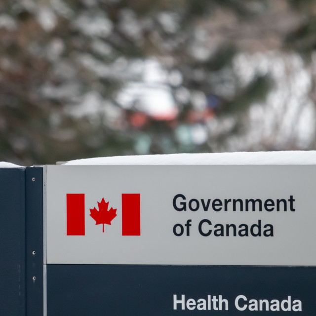 """""""Government of Canada: Health Canada Office Sign"""" stock image"""