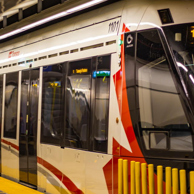 """Ottawa's O-Train Light Rail Underground"" stock image"
