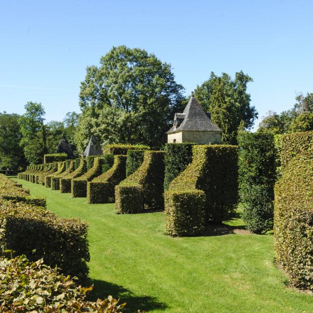 """Jardins D'Eryignac, Dordogne, France"" stock image"