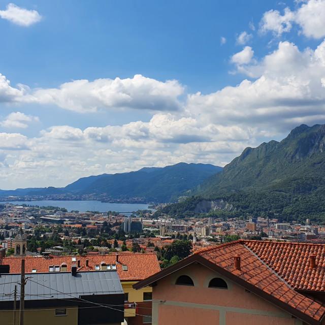 """Lake Como Rooftops"" stock image"