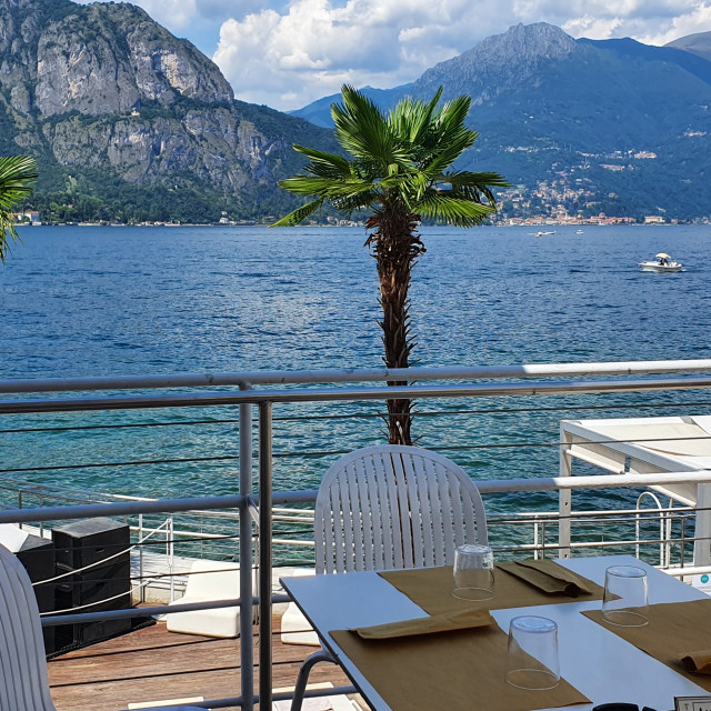 """Lake Como Dining"" stock image"