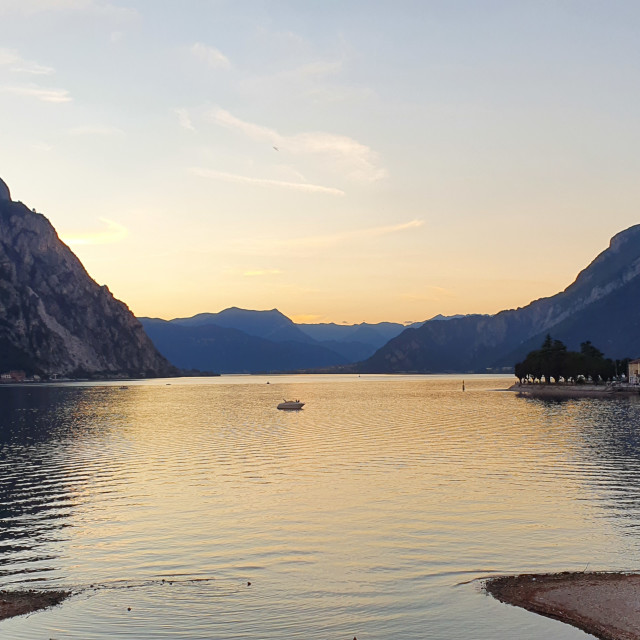 """Lake Como Sunset"" stock image"