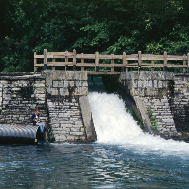 """Roaring River State Park Missouri"" stock image"